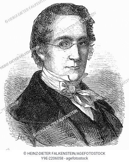 Joseph Louis Gay-Lussac, 1778 - 1850, a French chemist and physicist,