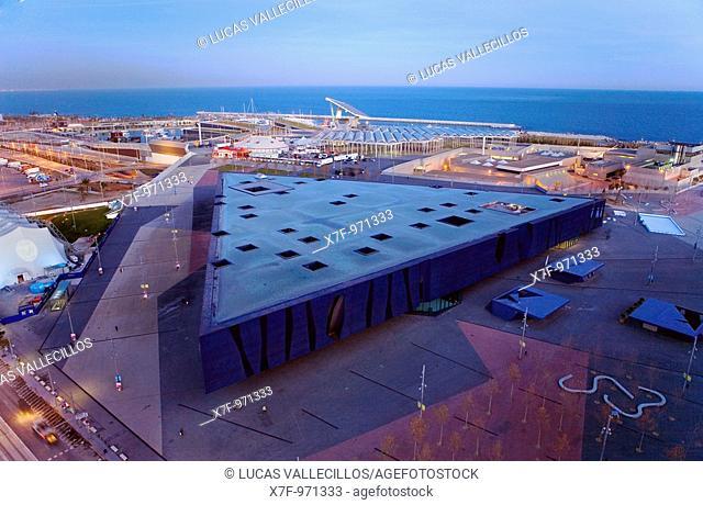 Barcelona: Forum Building by Jacques Herzog and Pierre de Meuron