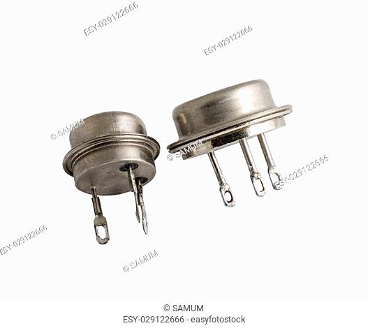 power transistors on a white background