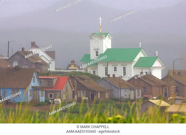 St. Paul village, St. Paul Island, Pribilofs, Alaska