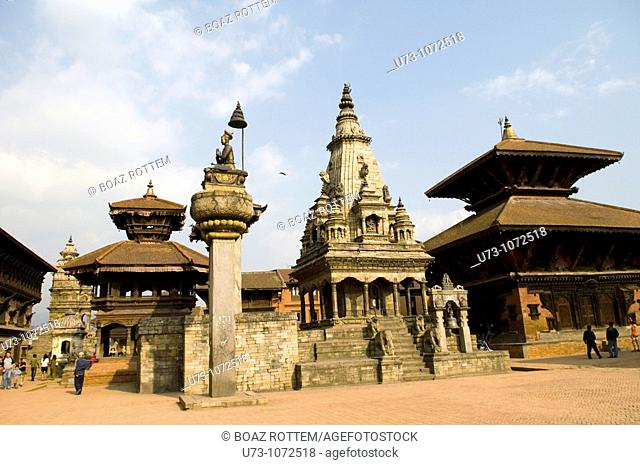 The beautiful old city of Bhaktapur in the Kathmandu valley, Nepal