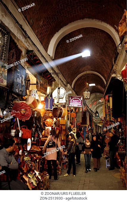 Tunis medina souk Stock Photos and Images | age fotostock