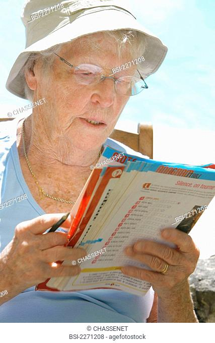 ELDERLY PERSON READING Model