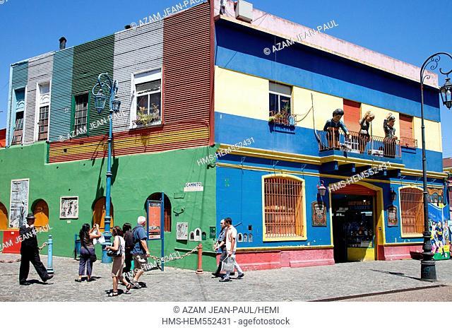 Argentina, Buenos Aires, La Boca district, Caminito