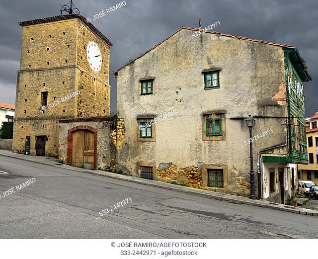 Clock Tower in Noreña. Asturias. Spain