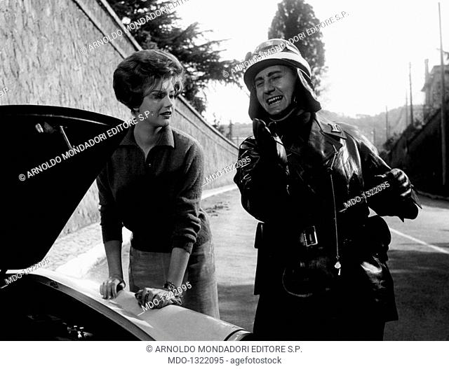 Sylva Koscina and Alberto Sordi in 'The Traffic Policeman'. Croatian-born Italian actress Sylva Koscina and Italian actor