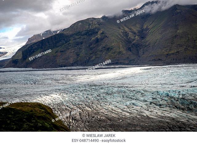 Svinafellsjokull glacier, part of Vatnajokull glacier. Skaftafel National Park on Iceland