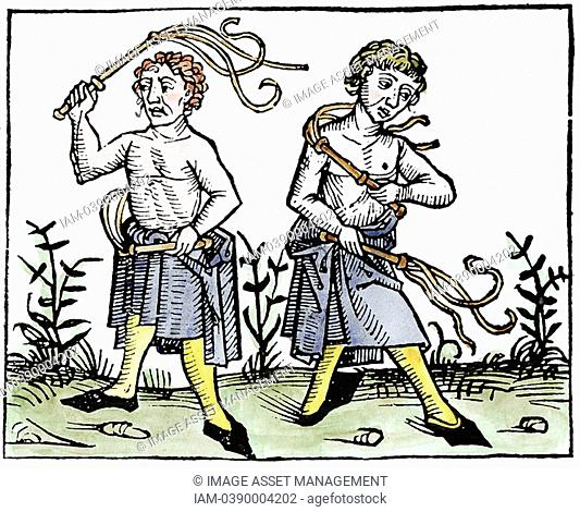 Flagellants  At time of Black Death in Europe, sect went through streets scourging themselves in attempt to take sins of population on themselves and save them...