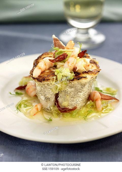 Cod Médaillon with shrimps