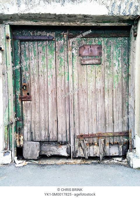 Old door to former workshop UK