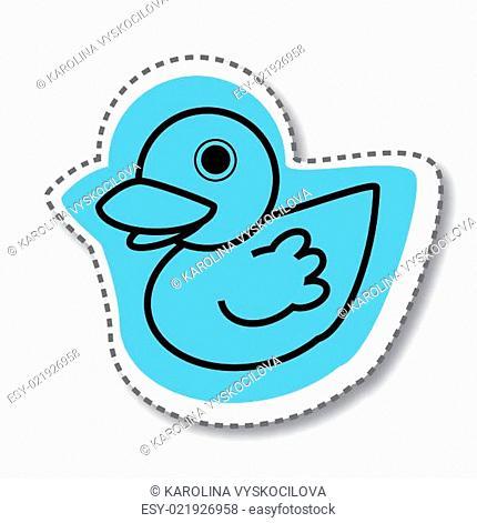 Blue duck twitter sticker
