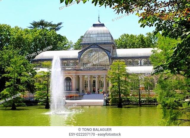 Madrid Palacio de Cristal in Retiro Park