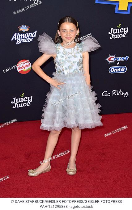 Madeleine McGraw at the world premiere of the movie 'A Toy Story: Everything Hears No Command / Toy Story 4' at the El Capitan Theater