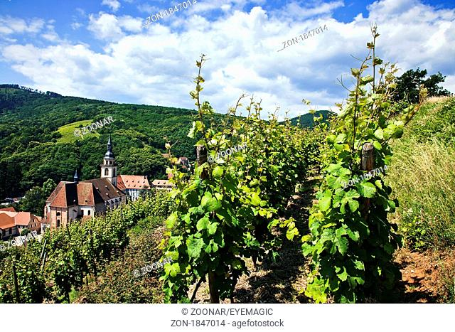 benedictine abbey, Andlau, Alsace, France
