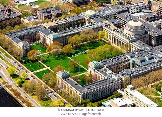 Aerial view of the Massachusetts Institute of Technology's Main Campus