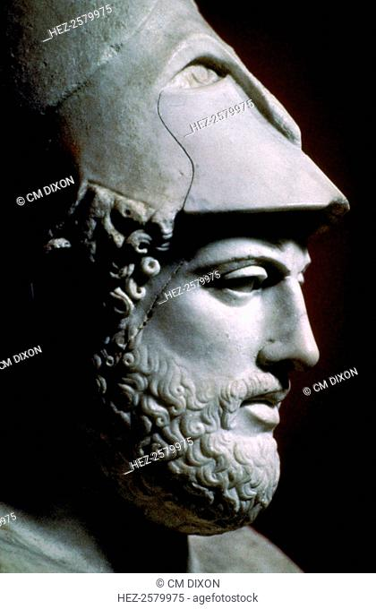 Bust of the Greek statesman Pericles (495-425 BC), from the Vatican Museum's collection, 5th century BC