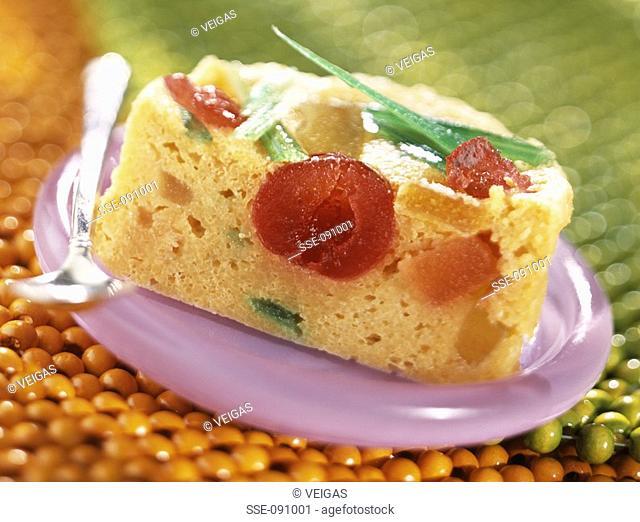 semolina and candied fruit cake