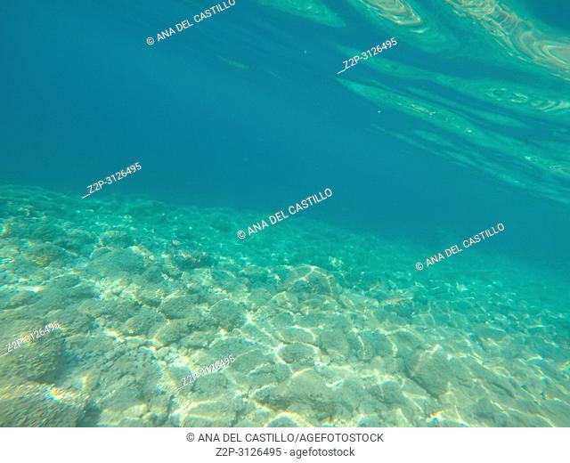 Underwater image of Adriatic sea in Croatia