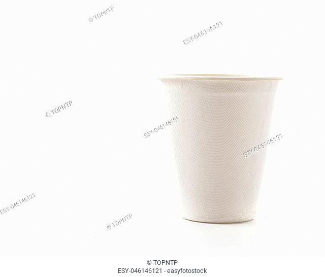 paper cup on white background