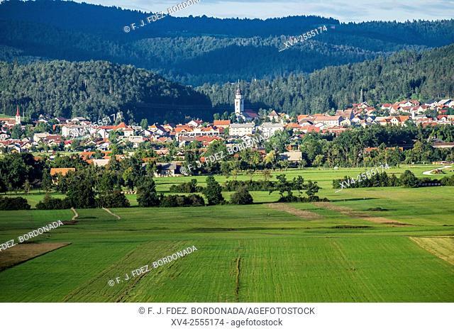 Cerknica town in spring. Slovenia