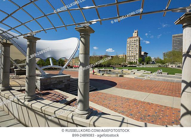 Bandstand Pack Square Park Downtown Asheville Buncombe County North Carolina Usa