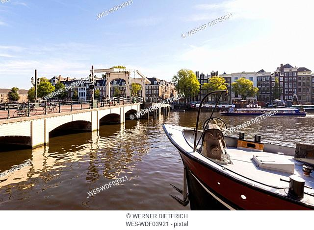 Netherlands, Amsterdam, view to Magere Brug