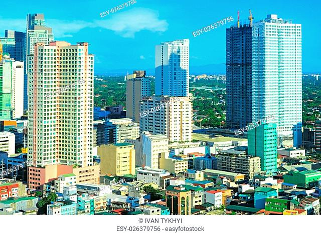 Makati city architecture- is one of the 17 cities that make up Metro Manila. Philippines