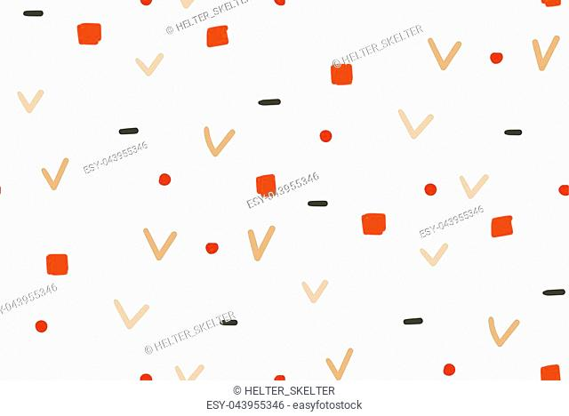 Hand drawn vector abstract fun Merry Christmas time simple seamless pattern isolated on white background