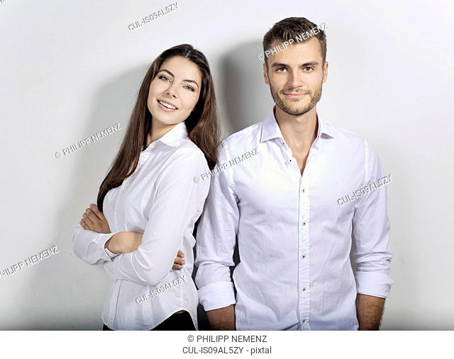 Portrait of young business couple