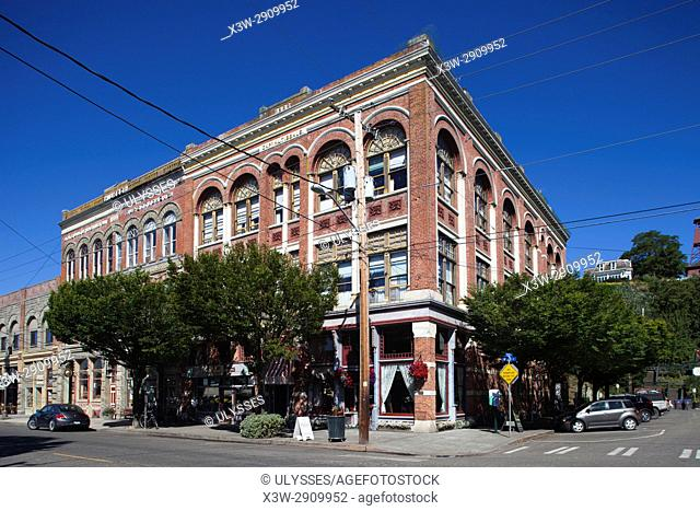 Captain Tibbals Building (1889), now Palace Hotel, Water Street, Port Townsend, State of Washington, USA, America