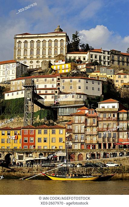 Ribeira district and Episcopal Palace, Porto, Portugal