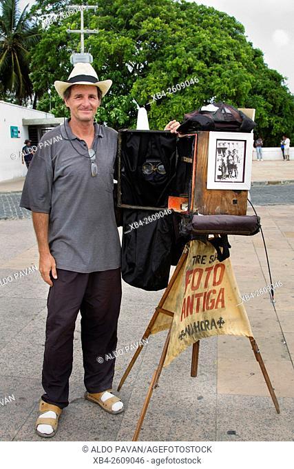 Street photographer, Olinda, Pernambuco, Brazil