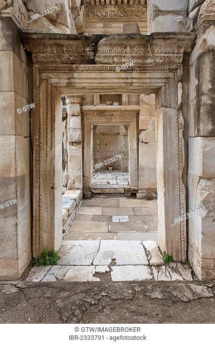 Celsus Library, Gallery, Ephesus, Izmir Province, Turkey