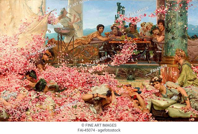 The Roses of Heliogabalus by Alma-Tadema, Sir Lawrence (1836-1912)/Oil on canvas/Neoclassicism/1888/Great Britain/Collection Pérez Simón, Mexico/132
