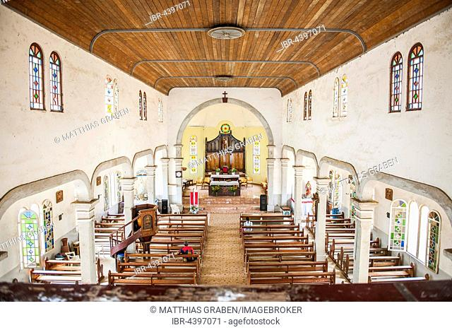 Historic Church of the Catholic Pallottines mission from the German colonial era, interior, Kribi, South Region, Cameroon
