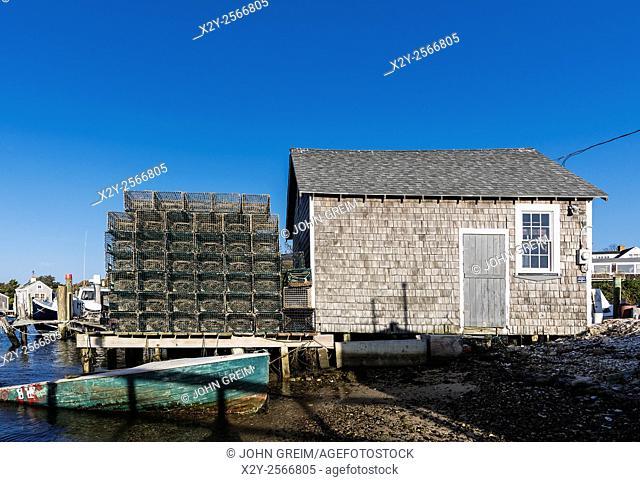 Fishing shack, Menemsha, Chilmark, Martha's Vineyard, Massachusetts, USA