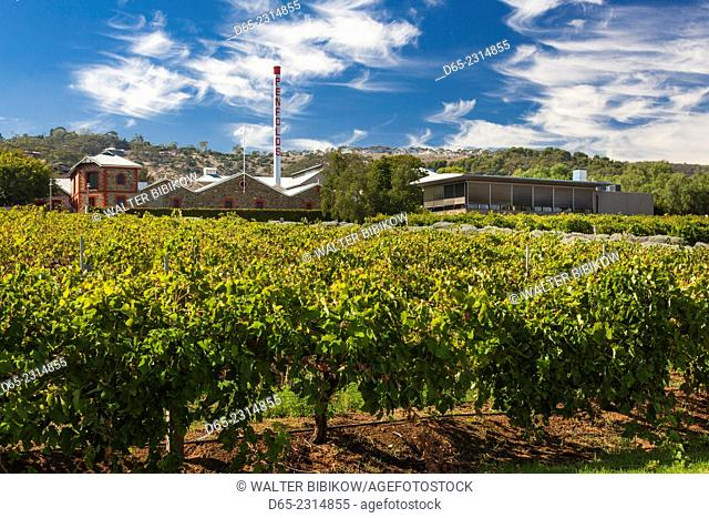 Australia, South Australia, Adelaide-MacGill, Penfolds Magil Estate Winery and vineyards, oldest winery in South Australia, winery buildings, exterior