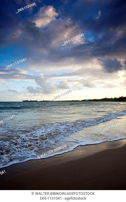 Puerto Rico, San Juan Area, Isla Verde, Playa Pine Grove beach, dawn