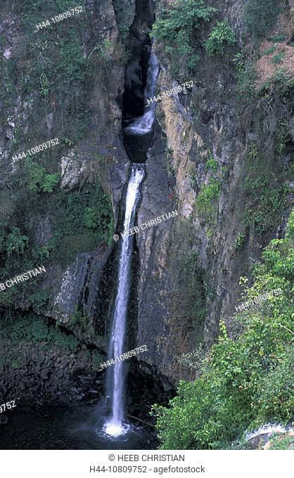 Abseiling, Cascada de Texolo, Mexico, Central America, America, near Xico, Veracruz, Waterfalls, climbing