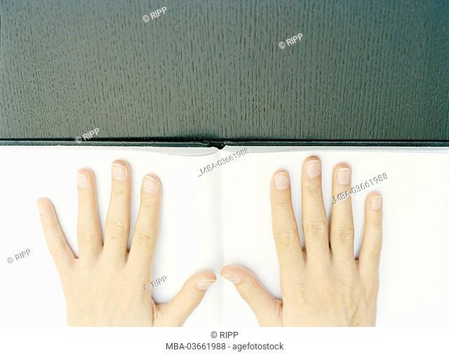 Book, opened, women, hands
