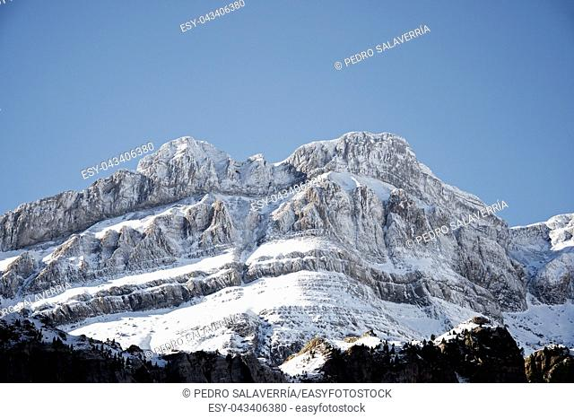 Lecherines peaks in Canfranc Valley, Aragon, Huesca, Spain