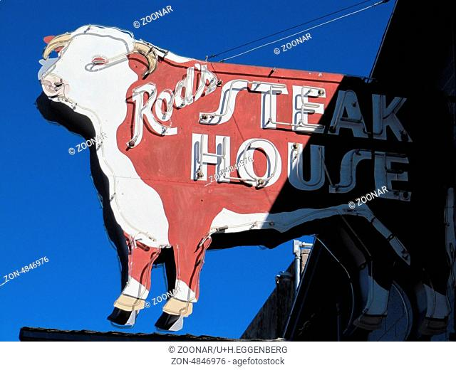 steakhouse signboard