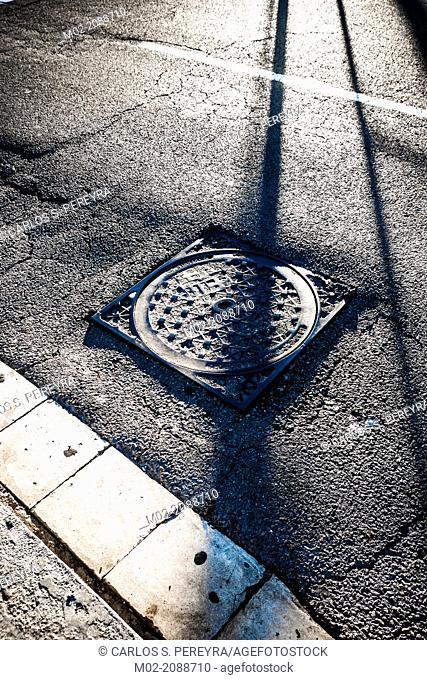 Street detail in Barcelona, Catalonia, Spain