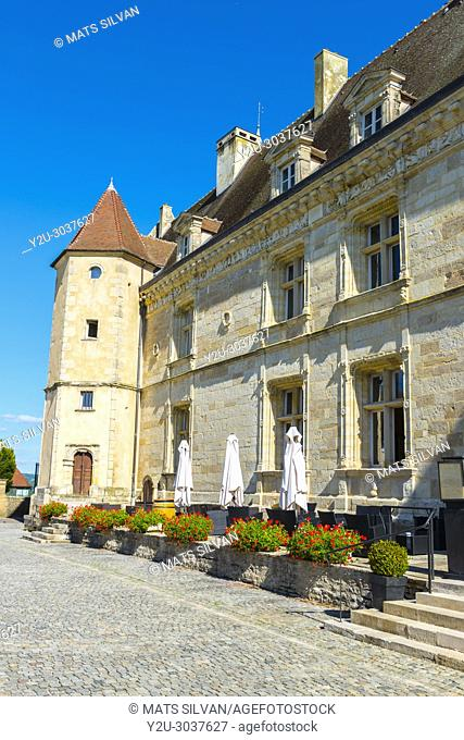 Castle - Château de Chailly-Sur-Armançonin - in a Sunny Day in Burgundy, France