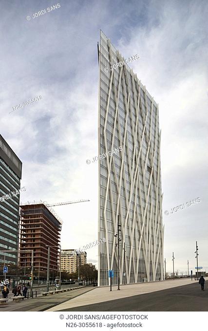 Diagonal Zero Zero or Torre Telefonica, by Enric Massip-Bosch, Barcelona, Catalonia, Spain