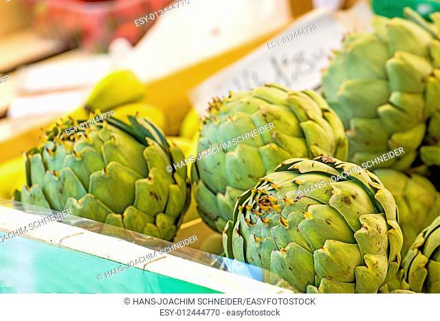 artichoke at a farmer market in France