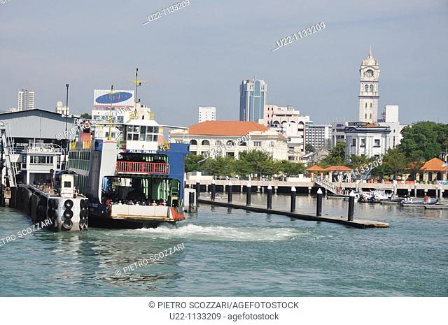 George Town, Penang (Malaysia): the Penang-Butterworth jetty's pier