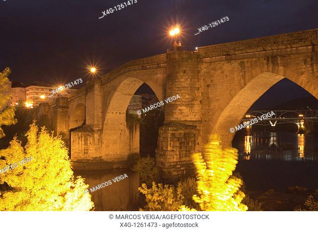 The Old Bridge of Ourense, Galicia, Spain