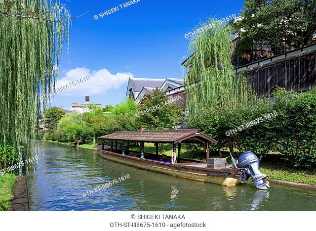Horikawa canal with Gekkeikan Okura Sake museum (Japanese sake brewery), a preeminent sake companies opened in 1982 with an old sake brewery built in 1909