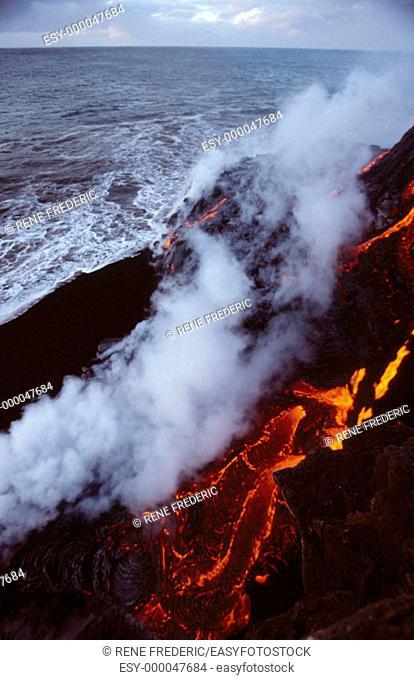 Pu'uO' Eruption of Kilauea. Hawaii Volcano National Park. Big Island. Hawaii